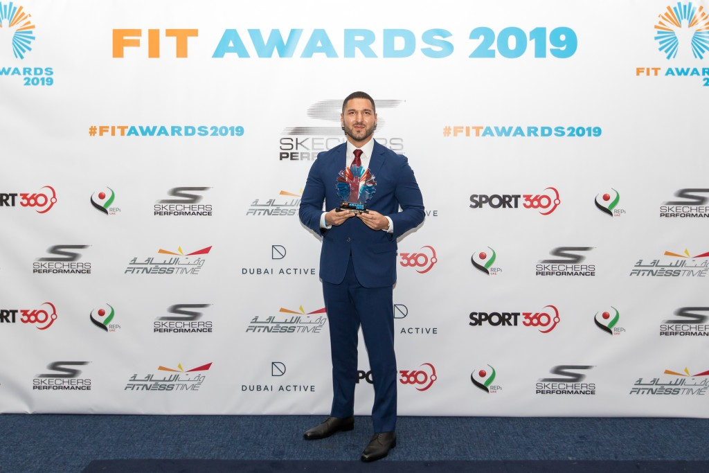 Fitness Manager of the Year: James Sidhu was delighted to win for the second time
