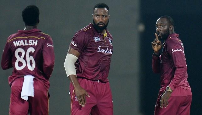 Williams celebrates Kohli's wicket.