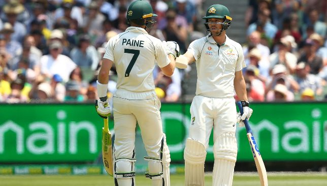 Travis Head and Tim Paine