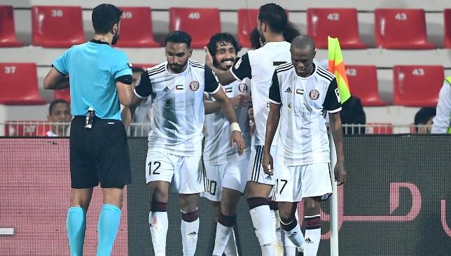 Al Jazira celebrate (UAE Pro League).