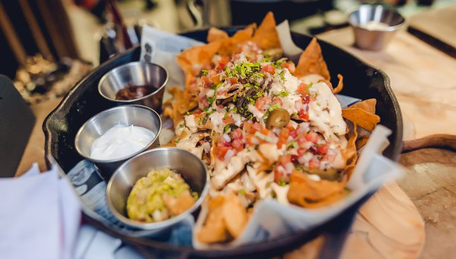 Dig into the Daddy Nachos at UBK.