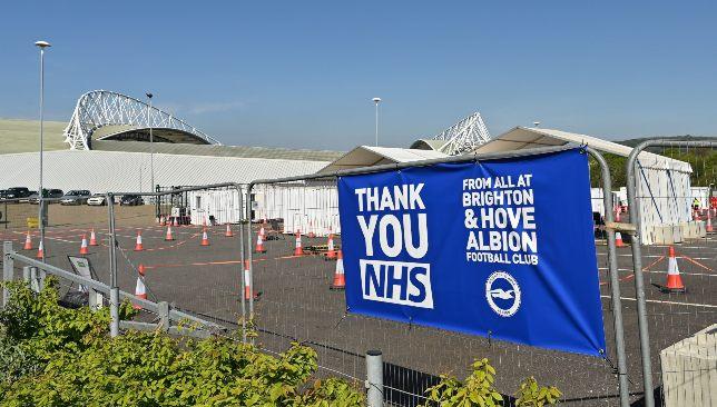 Brighton & Hove Albion a ouvert ses portes au NHS.