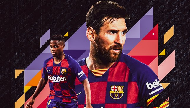 Ansu Fati succède à Lionel Messi