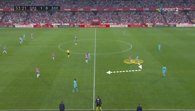De Jong contre Granada 2