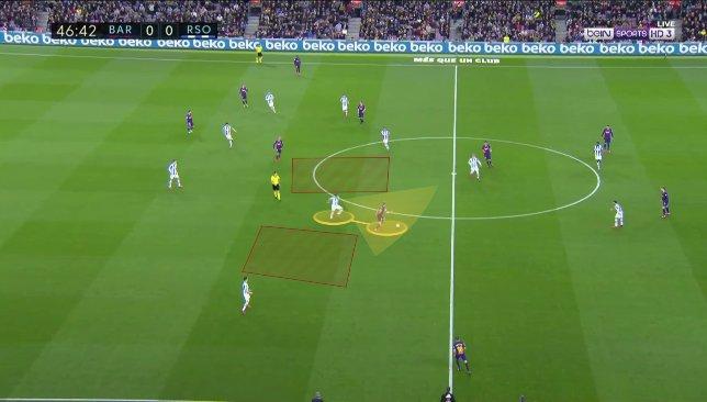 De Jong contre Real Sociedad 1