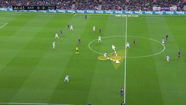 De Jong contre Real Sociedad 3