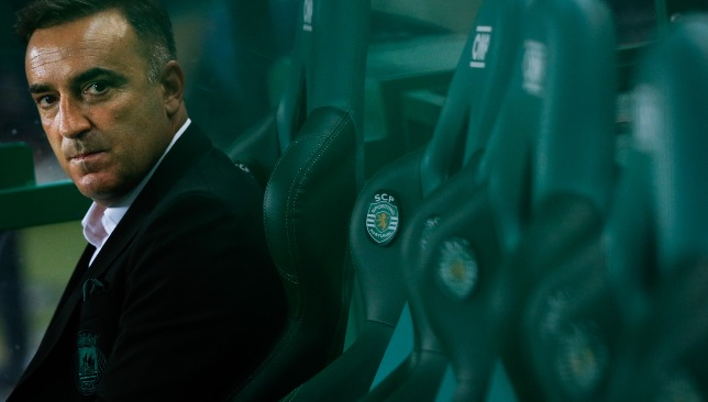 Carlos Carvalhal when Rio Ave travelled to former club Sporting Lisbon.