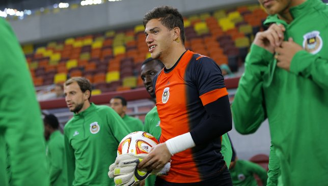 Manchester City's Ederson (c) at Rio Ave in 2014 (EPA).