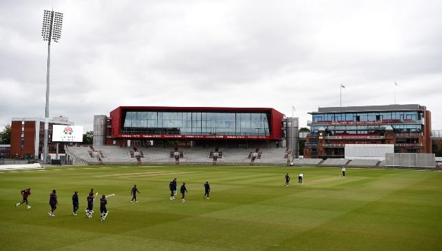 Les joueurs des Antilles participent à un affrontement intra-équipe à Manchester mardi.