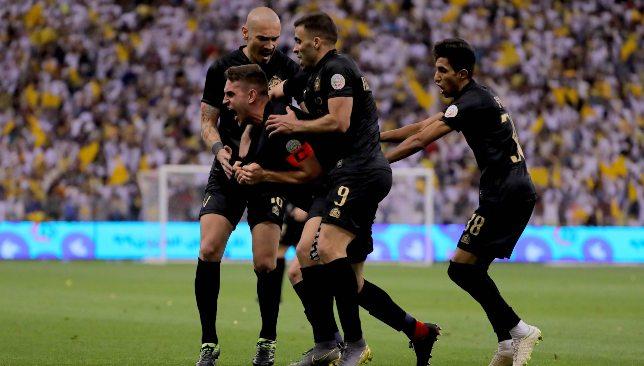 Al Nassr célèbre le vainqueur épique de mars 2019 contre Al Hilal (EPA).
