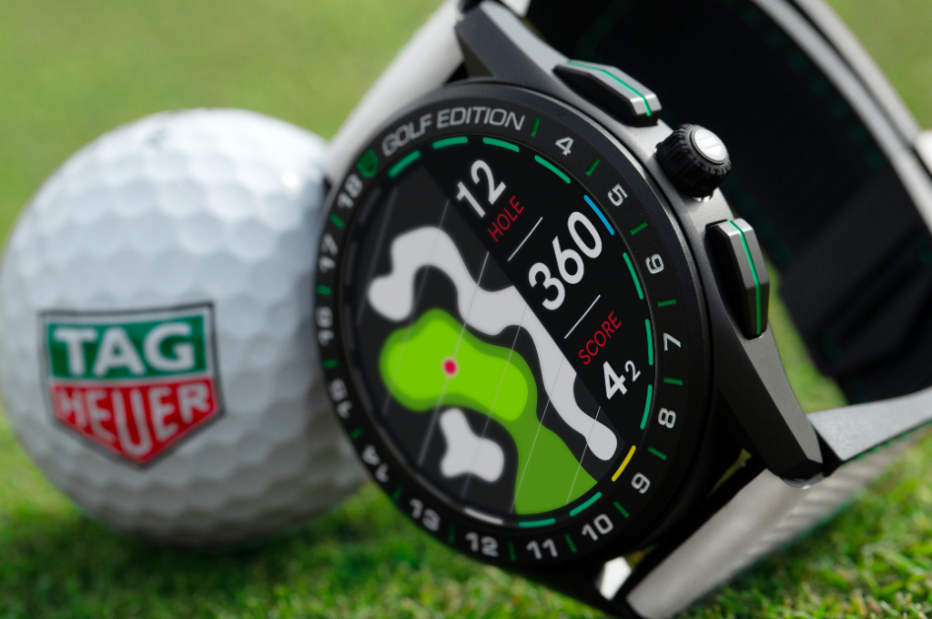 New technology: The TAG Heuer Connected is designed to help golfers improve their game