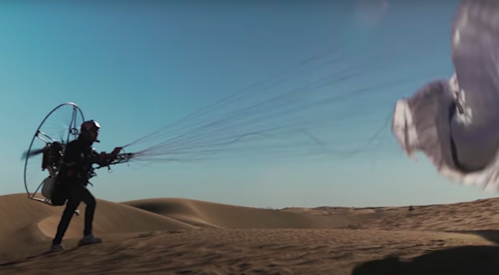 Red Bull athletes: The pair trained rigorously for the stunt
