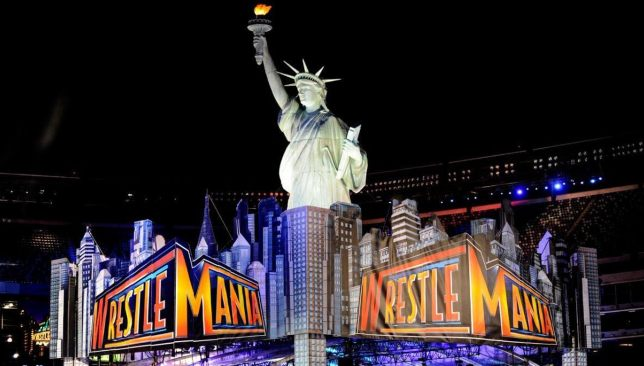 The stunning New York theme of WrestleMania 29.