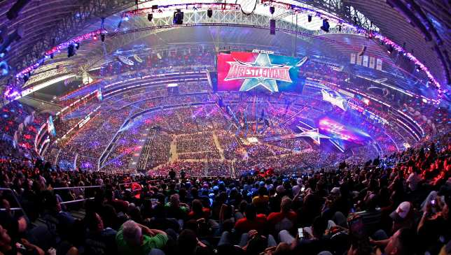 Even up in the rafters, WrestleMania 32's design looked spectacular