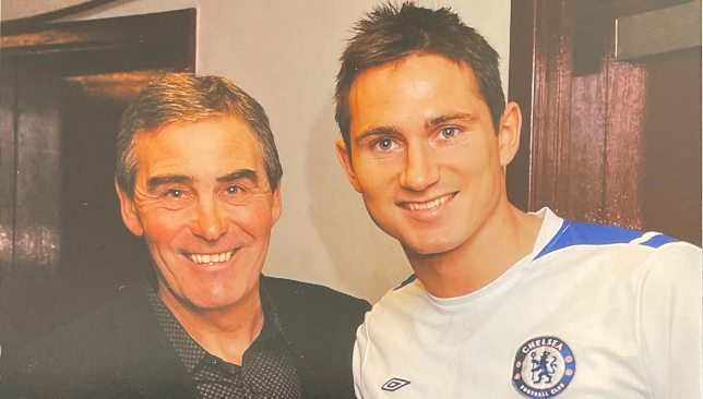 Tony Carr with Frank Lampard