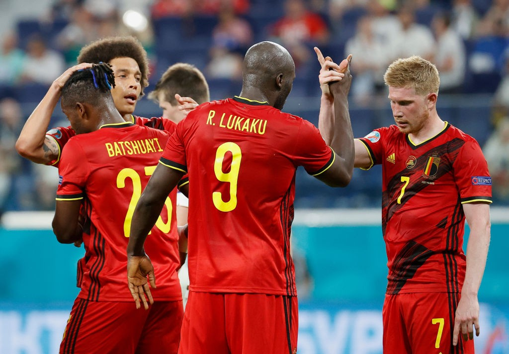 On fire: Romelu Lukaku celebrates with teammate Kevin De Bruyne