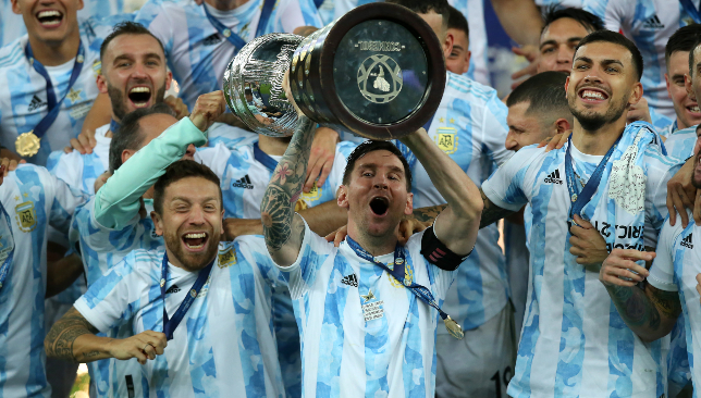 BeFunky collage 2 Barcelona legend Lionel Messi ends long wait for Copa America glory with Argentina