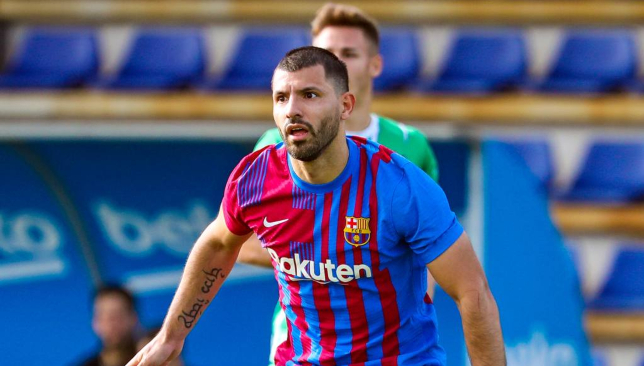 Aguero scores upon long-awaited unofficial debut for Barcelona
