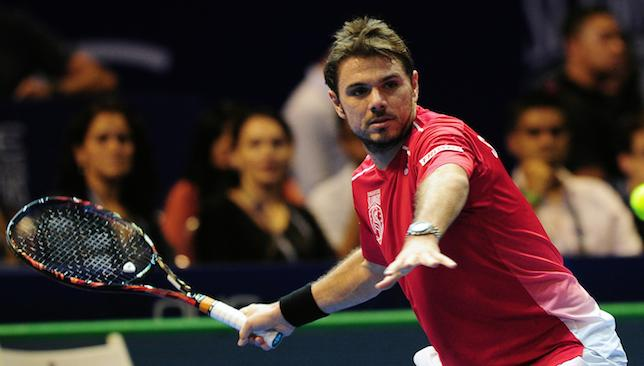 Aiming high: Stan Wawrinka.