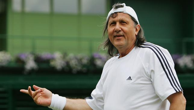 Born to perform: Nastase was one of sport's greatest entertainers.