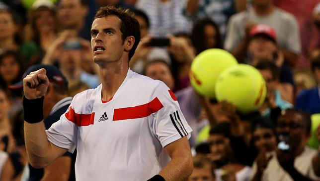 Fit again: Murray hasn't played a competitive match since September.