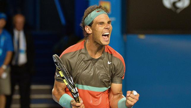 Cruise control: Nadal was untroubled during his straight sets win over Monfils.