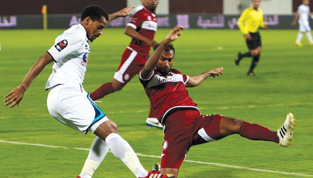 Crunch clash: Bani Yas (white) host an Al Nasr side just one point behind them.