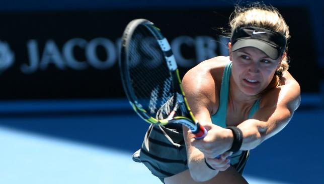 Coming to the fore: Australian open semi-finalist Bouchard is targeting further Grand Slam glory.