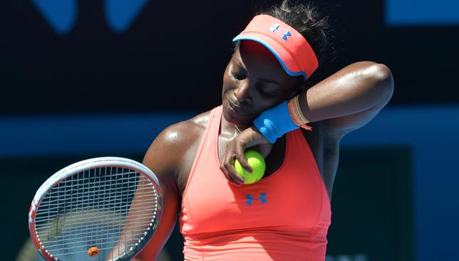 Knocked out: Stephens lost to Safarova in straight sets.