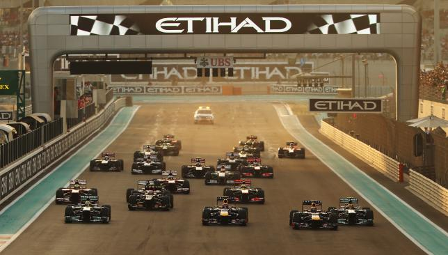 And they're off: Organisers have unveiled plans to make the 2014 Abu Dhabi GP the biggest yet.