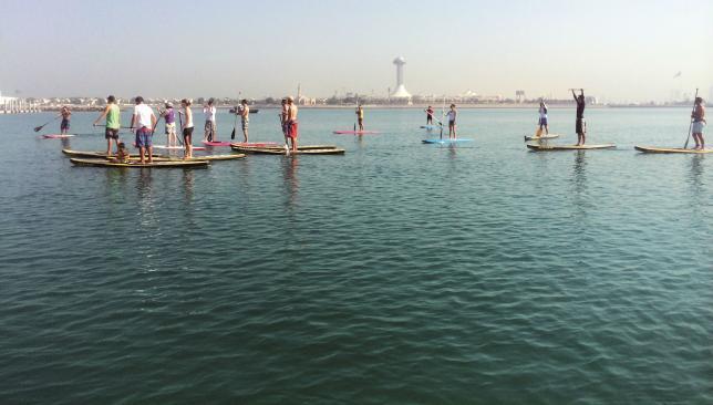 Walking on water: SUPing off the Abu Dhabi Corniche