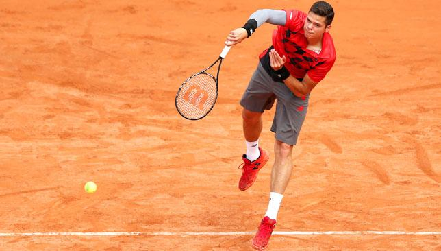 Big hitter: World No8 Milos Raonic is at the French on the back of his best ever showing on clay in Rome.