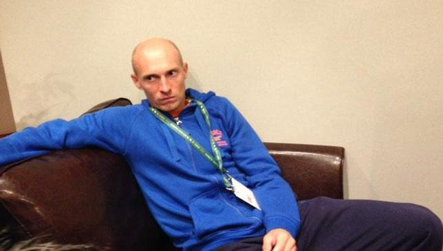 Davydenko talks to reporters in Paris on Monday.