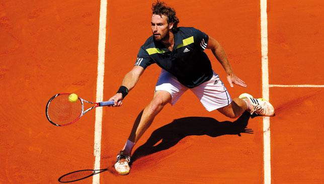 Aiming high: By reaching the semi finals at Roland Garros, Ernests Gulbis surpassed his best Grand Slam showing to date.