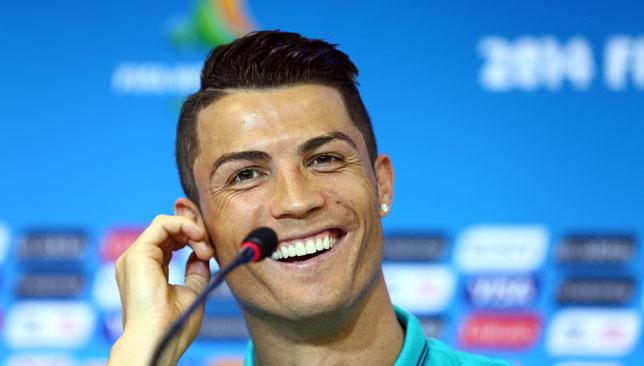 Confident moos: Cristiano Ronaldo is fully fit and raring to go at the Brazil World Cup.