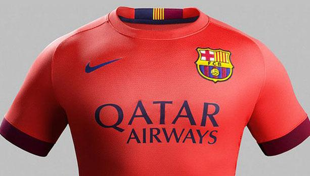 Ruthless red: this can still be Suarez's tag as Barca unveil new red away shirt.