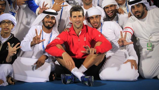 Unbeaten in Abu Dhabi: Djokovic has confirmed his attendance at Mubadala.