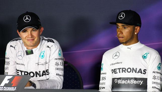 Rivals: Nobody would think that Nico Rosberg and Lewis Hamilton are team mates after yesterday's Grand Prix.