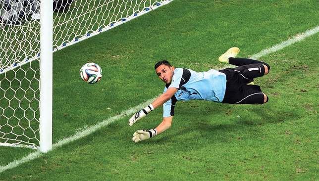 Key to success: Keylor Navas was outstanding for Costa Rica at the World Cup.