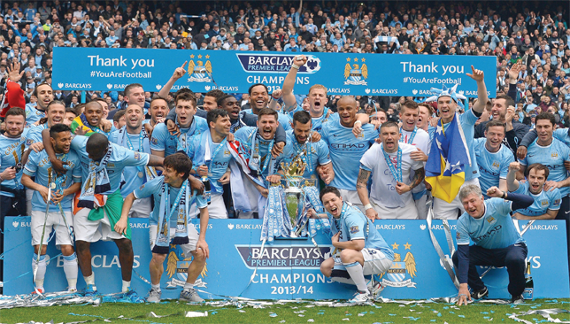 Prized scalp: Having won the title twice in three seasons, Manchester City start 2014/2015 as the team to beat.