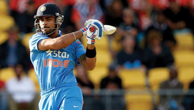 At last: Virat Kholi has endured a frustrating summer with the bat.
