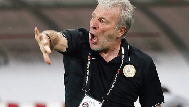 Keeping faith in his team: Gerets.