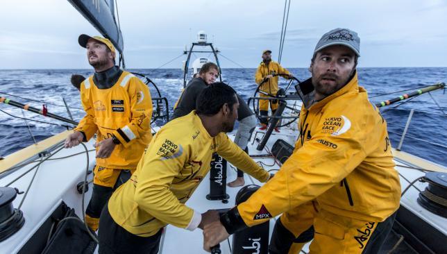 Behind for now: Abu Dhabi Ocean Racing.