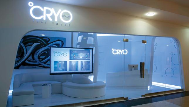 Colour me up: The modern style and colours at the Cyro-Health are comparable to something out of a spaceship.