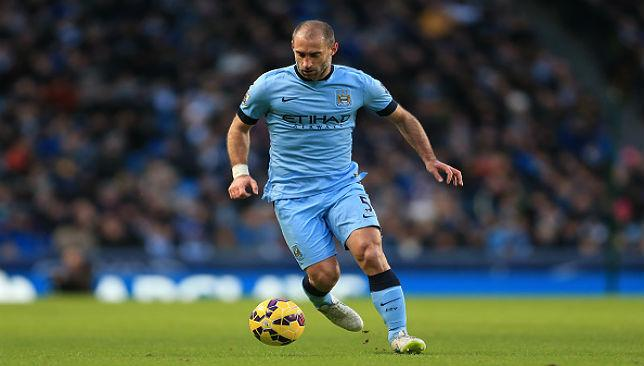 Focused: Pablo Zabaleta believes Manchester City must beat Chelsea to stay alive in the Premier League title race.