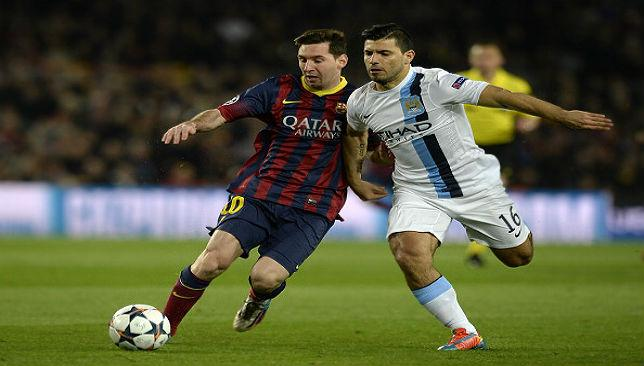 Friendship On Hold As Sergio Aguero And Lionel Messi Clash In Champions League Football European Sport360