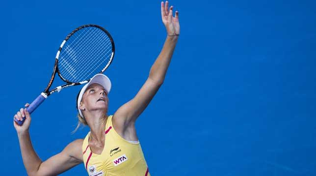Grand gesture: Pliskova reached the third round of the Australian Open last month.