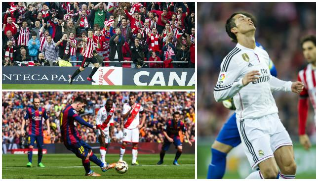 An eventful weekend in La Liga saw Barcelona overtake Real Madrid at the top of the table.
