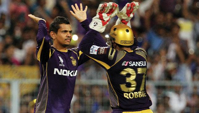 Sunil Narine (l) is pivotal to KKR's chances.