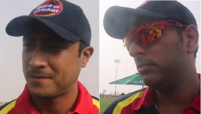 Stars in Dubai: Nepal's Paras Khadka (L) and India's Yuvraj Singh (R).